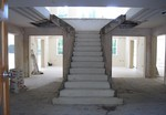 Concrete curved stairs